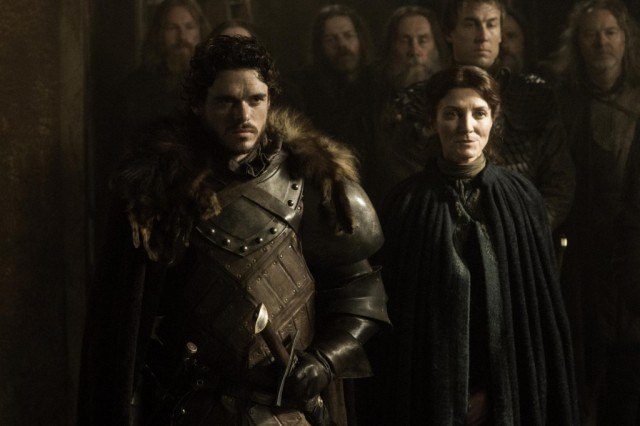 "Robb Stark (Richard Madden) and Catelyn Stark (Michelle Fairley) in the 'Game of Thrones' episode ""The Rains of Castamere"""