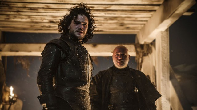"Jon Snow (Kit Harington) in a scene from the Game of Thrones episode ""The Watchers on the Wall"""