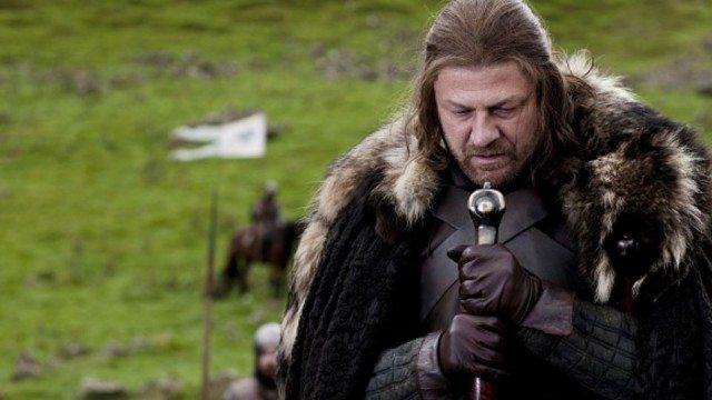 """Eddard 'Ned' Stark (Sean Bean) in a moment from the 'Game of Thrones' episode """"Winter is Coming."""""""