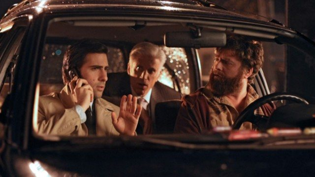 Jason Schwartzman, Ted Danson, and Zach Galifinakas in HBO's comedy series 'Bored to Death'