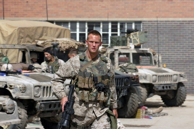 Alexander Skarsgard stars in the ensemble war drama 'Generation Kill'