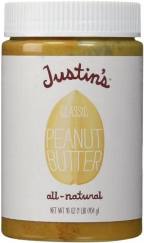 jar of Justin's classic peanut butter