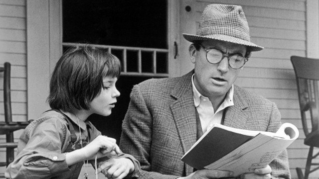 Mary Badham and Gregory Peck as Scout and Atticus Finch in 'To Kill a Mockingbird'