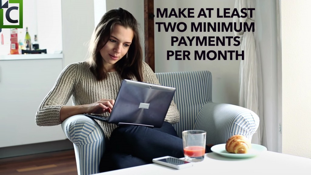 make two minimum payments