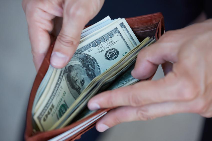 wallet full of money