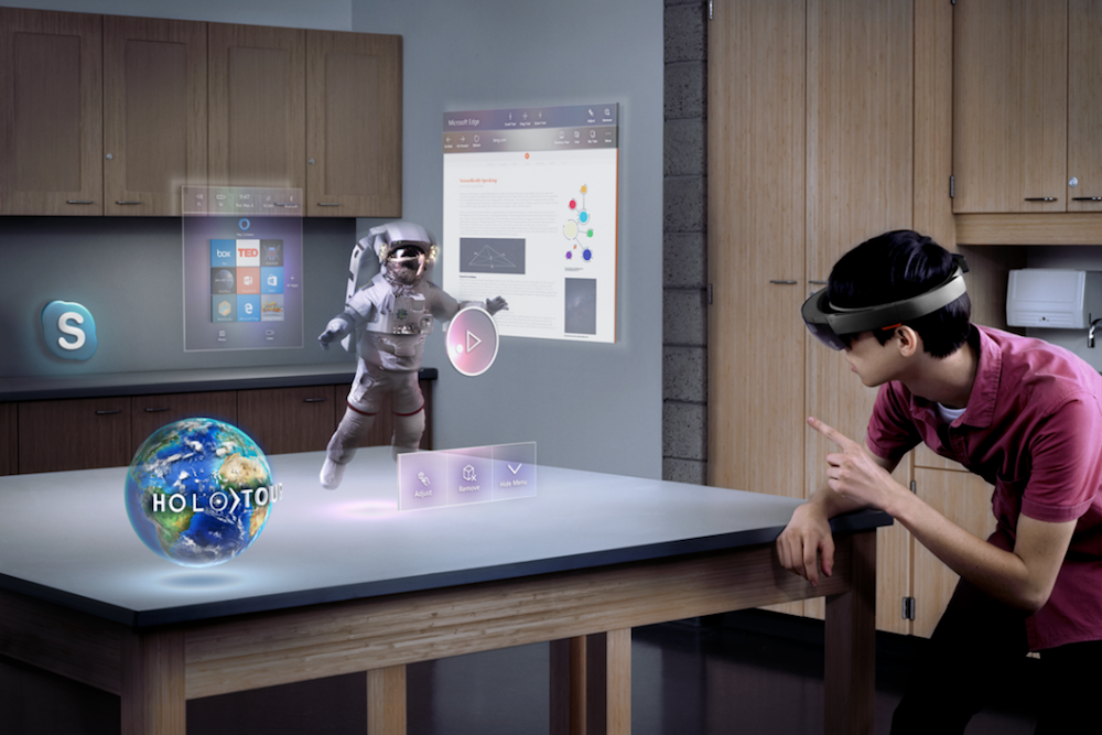 HoloLens augmented reality headset