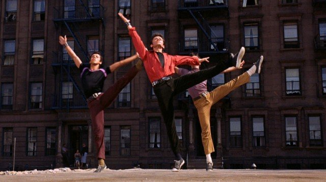 A scene from the Oscar-winning musical 'West Side Story'