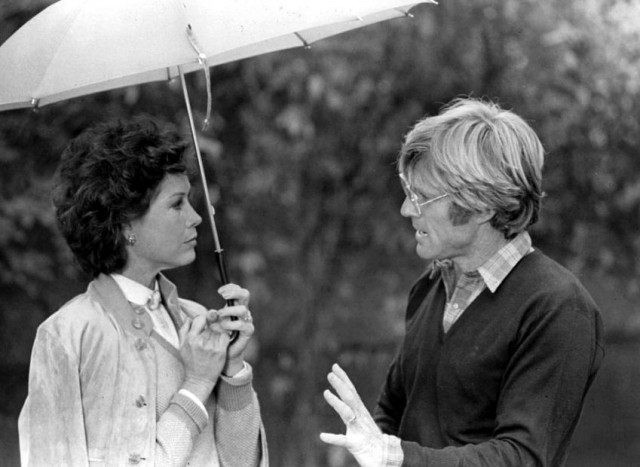 Mary Tyler Moore and Robert Redford on the set of 'Ordinary People'