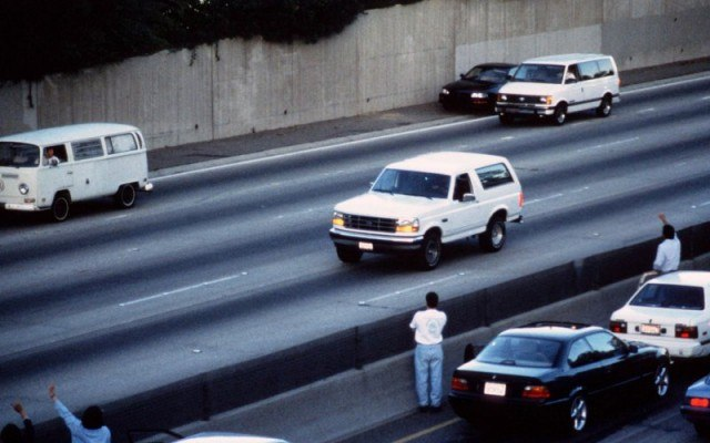 OJ Simpson car chase, June 17, 1994