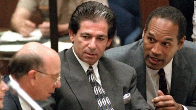 Robert Kardashion and O.J. Simpson