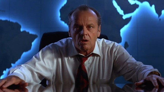 Jack Nicholson as President James Dale in 'Mars Attacks!'