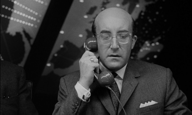 Peter Sellers as President Merkin Muffley in 'Dr. Strangelove or: How I Learned to Stop Worrying and Love the Bomb