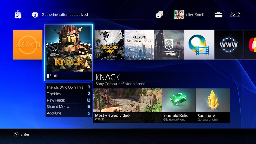 PlayStation 4 dashboard