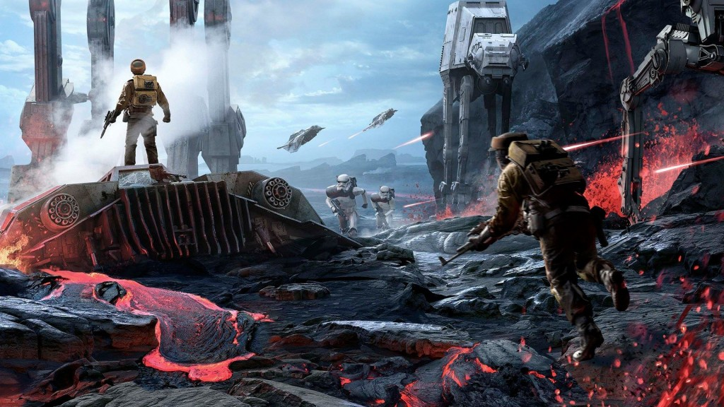 Concept art for 'Star Wars Battlefront'