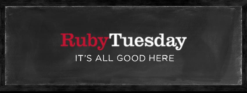 The Ruby Tuesday logo and slogan