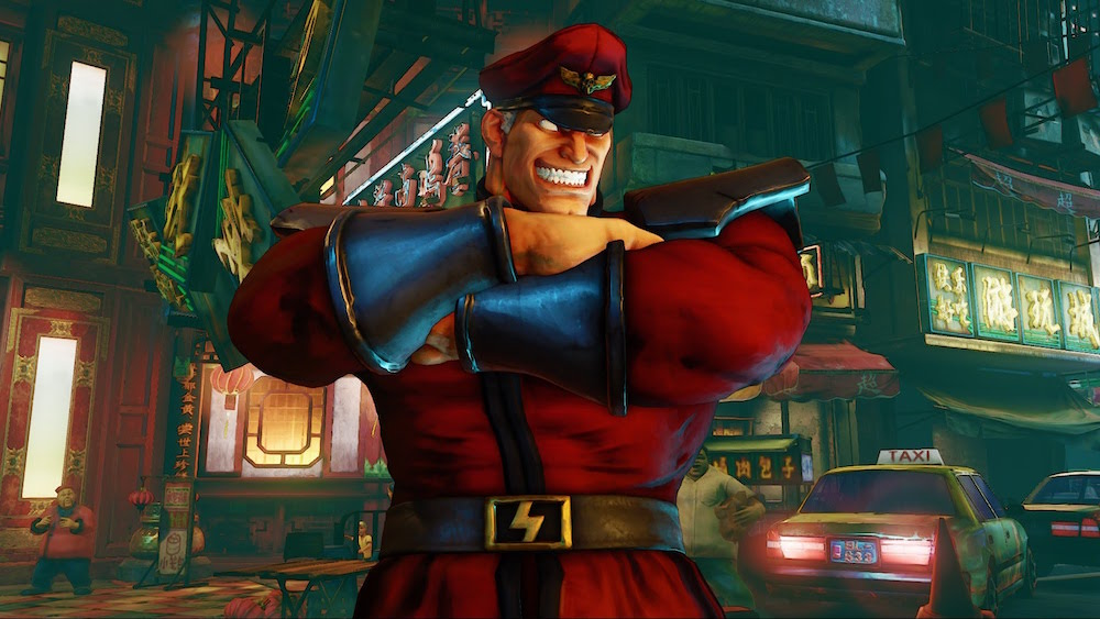 M. Bison with his arms crossed, from Street Fighter V