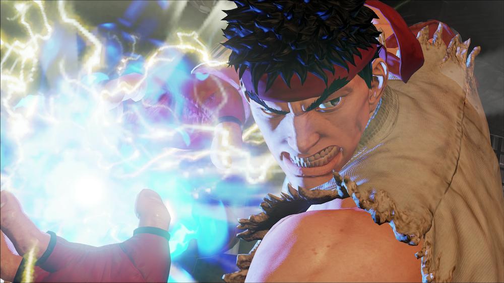 Ryu prepares a fireball in 'Street Fighter V'