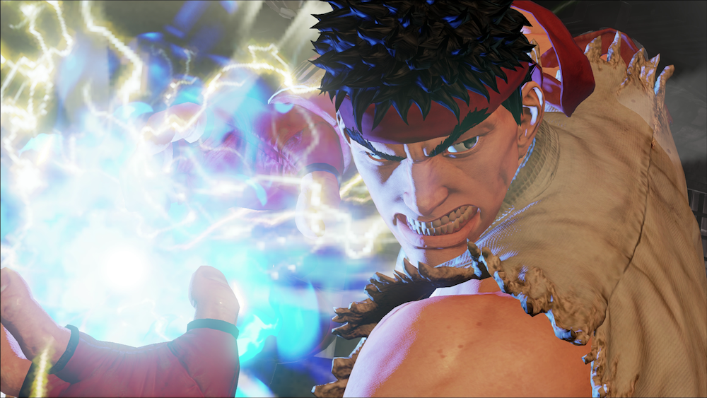 Ryu prepares a fireball in 'Street Fighter V'