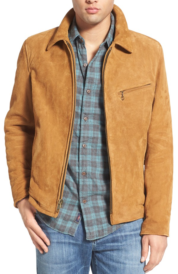 a suede men's jacket