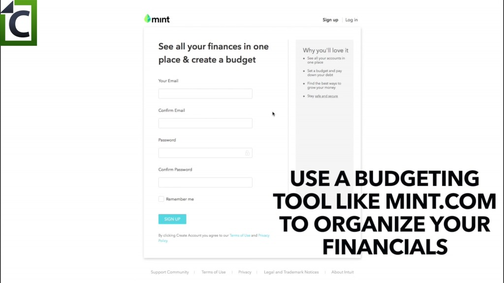 use a budgeting tool