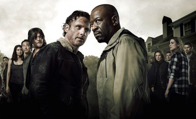 Rick (Andrew Lincoln) and Morgan (Lennie James) face off in a promotional image for AMC's 'The Walking Dead'