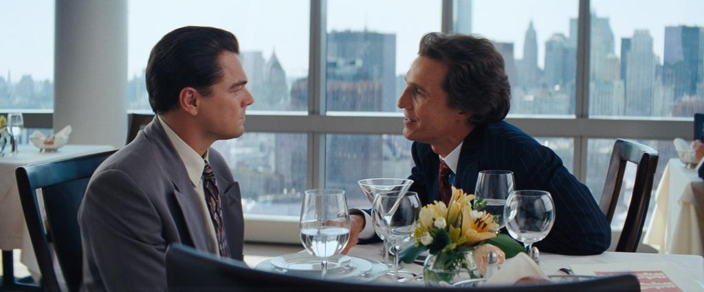 Leonardo Dicaprio and Matthew McConaughey in The Wolf of Wall Street