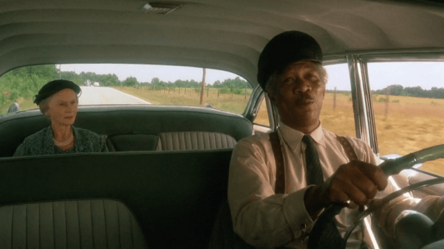 Jessica Tandy and Morgan Freeman in 'Driving Miss Daisy'