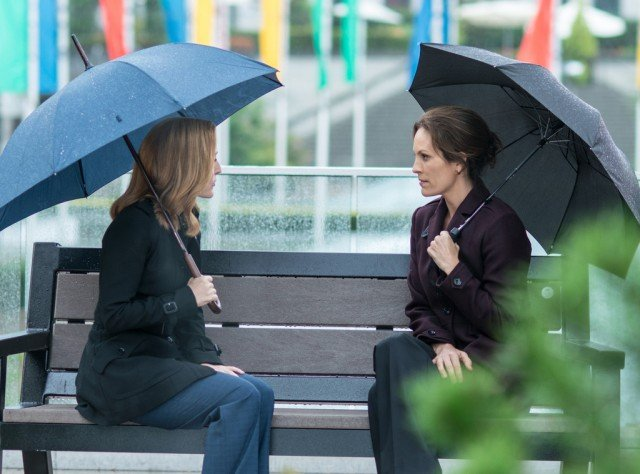 Dana Scully (Gillian Anderson) and Monica Reyes (Annabeth Gish) meet up in the 'X-Files' miniseries finale.