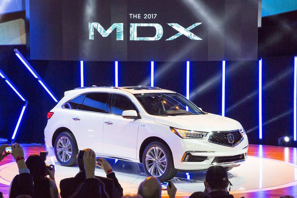 The 2017 Acura MDX is unveiled at the 2016 New York International Auto Show on March 23, 2016.