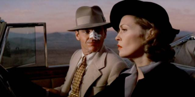 Jack Nicholson and Faye Dunaway star in Roman Polanski's noir thriller, 'Chinatown'