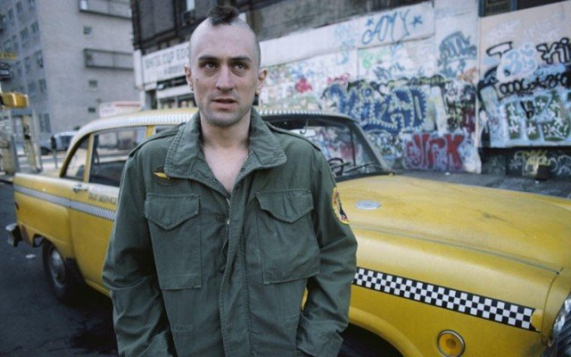 Robert DeNiro stars as Travis Bickle in Martin Scorsese's psychological thriller 'Taxi Driver.'