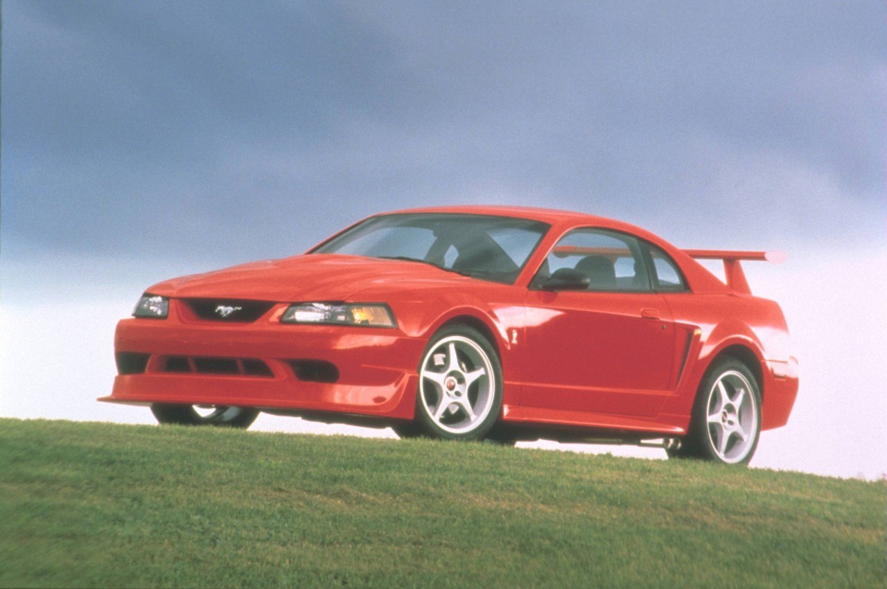 A red 2000 Ford SVT Mustang Cobra R