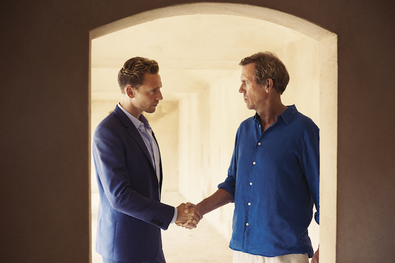 Tom Hiddleston and Hugh Laurie in The Night Manager