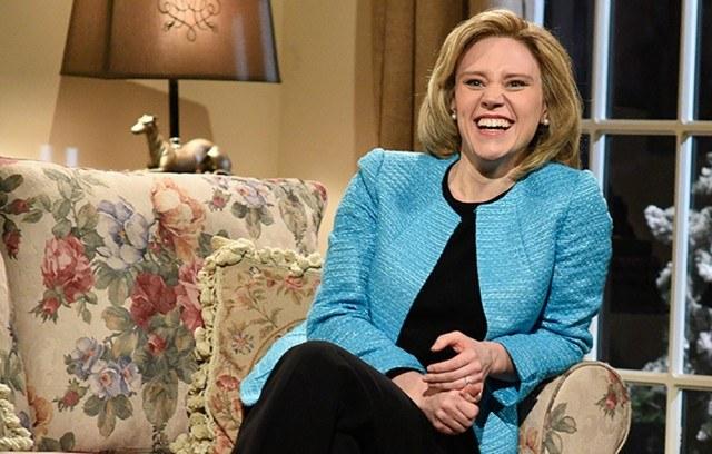 Kate McKinnon as Hillary Clinton in a recent 'Saturday Night Live' skit.