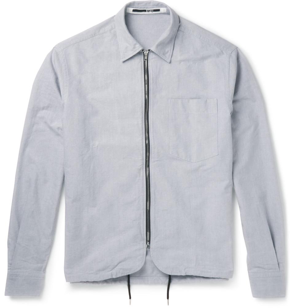 Cotton Canvas Shirt Jacket