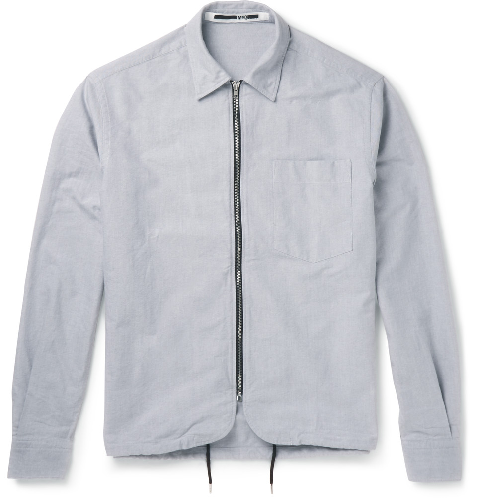 Cotton Canvas Shirt Jacket