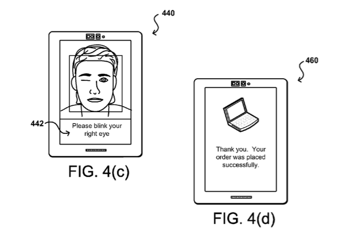 Drawing of Amazon selfie security
