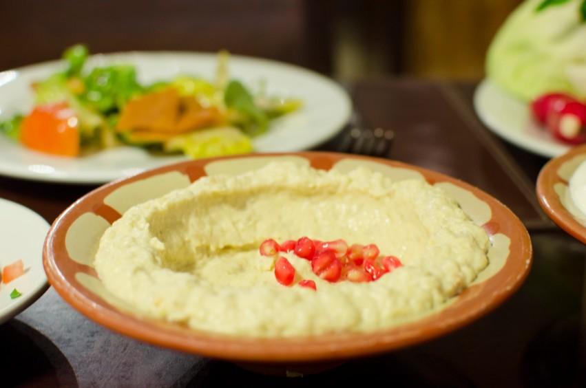 Baba ghanoush, a Lebanese dish