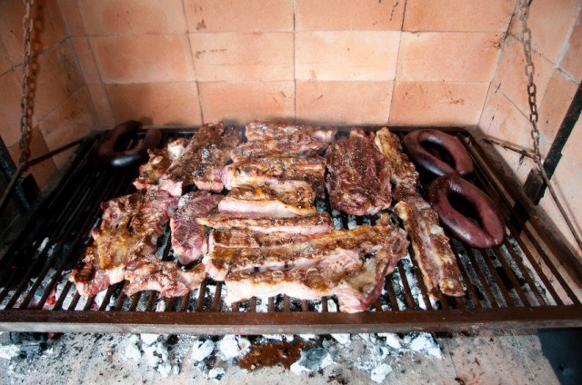 grilled meat in Argentina