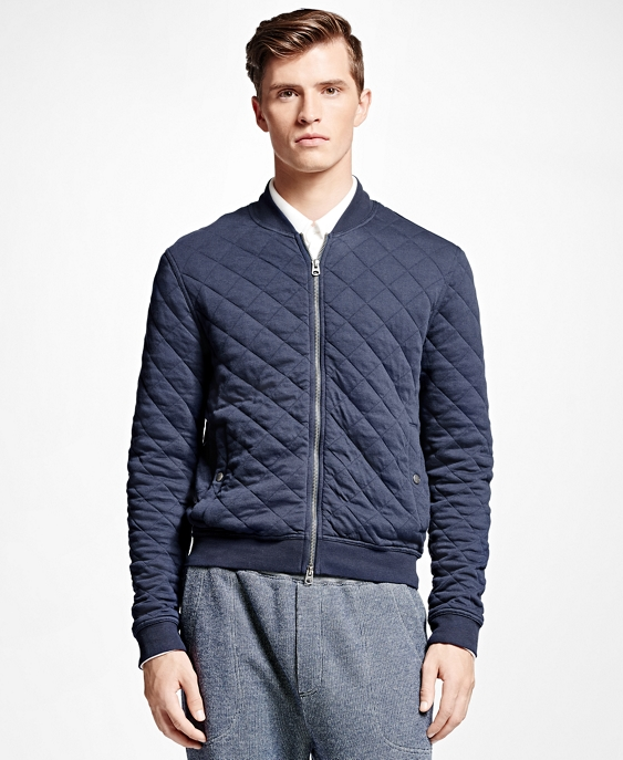 Brooks Brothers Quilted Bomber