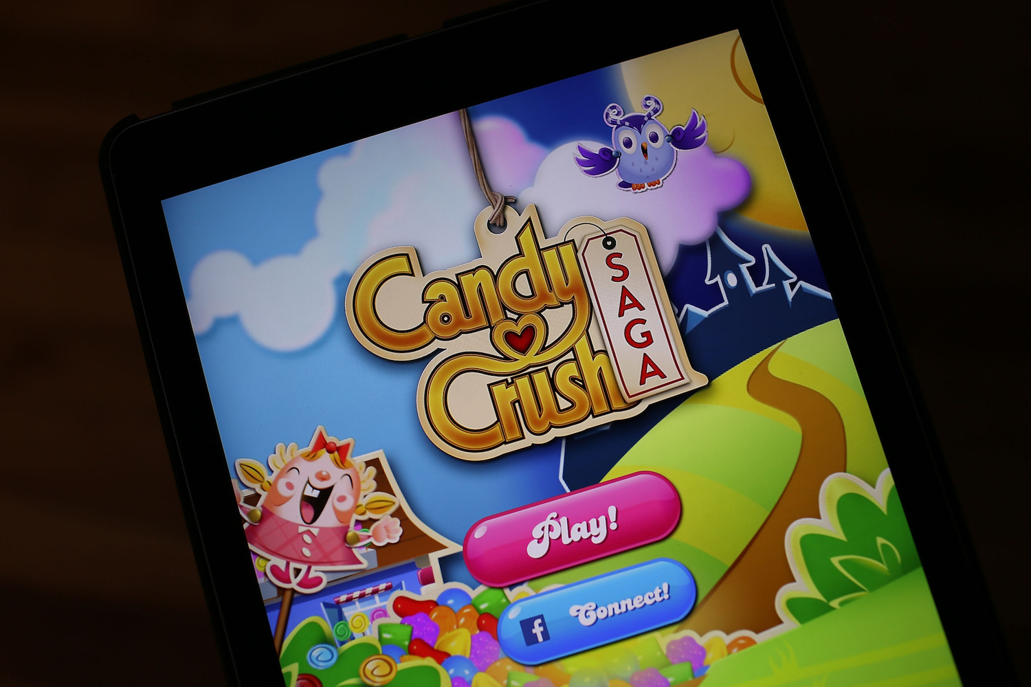 Candy Crush on a phone