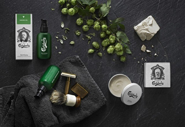 beer beauty products, grooming products, carlsberg beer