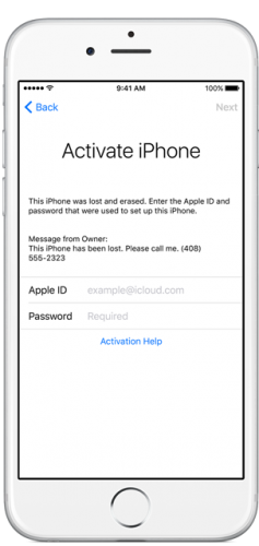 Find My iPhone Activation Lock
