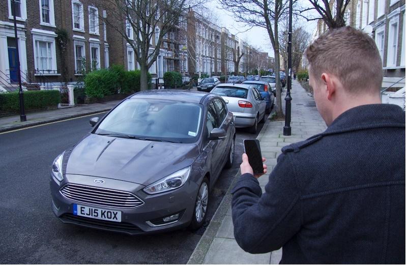 Driverless car, go park, Ford
