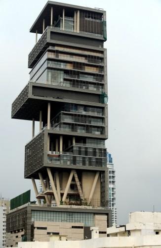 Mukesh Ambani's Mumbai home   Indranil Mukherjee/AFP/Getty Images