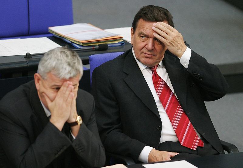Two nervous, anxious men