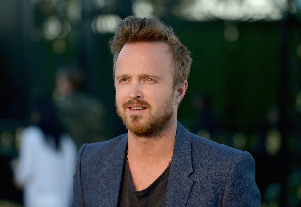 """LOS ANGELES, CA - APRIL 16: Actor Aaron Paul attends the Burberry """"London in Los Angeles"""" event at Griffith Observatory on April 16, 2015 in Los Angeles, California. (Photo by Chris Weeks/Getty Images for Burberry)"""