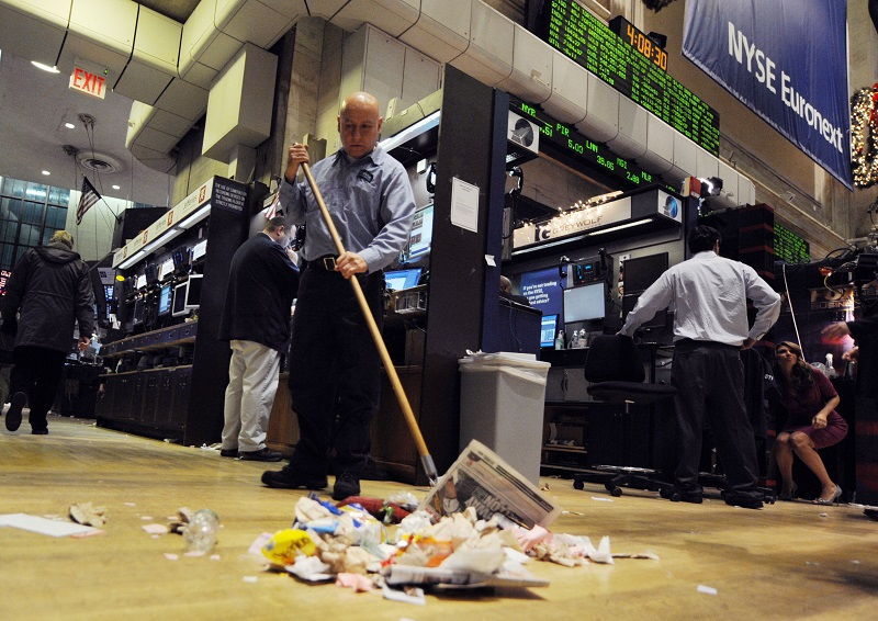 Janitor sweeping   Don Emmert/AFP/Getty Images