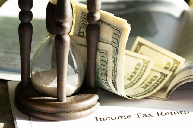 money and timer and income tax return