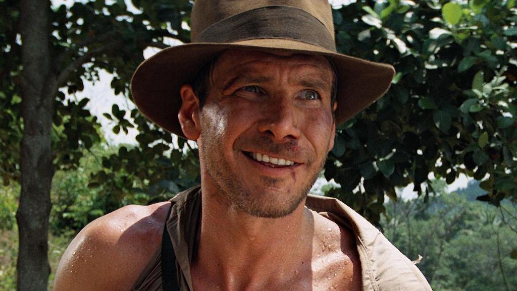 Harrison Ford wears a fedora in Indiana Jones